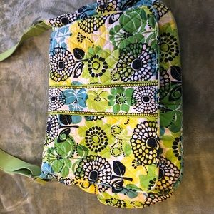 Vera Bradley Messenger Diaper Bag in Limes Up